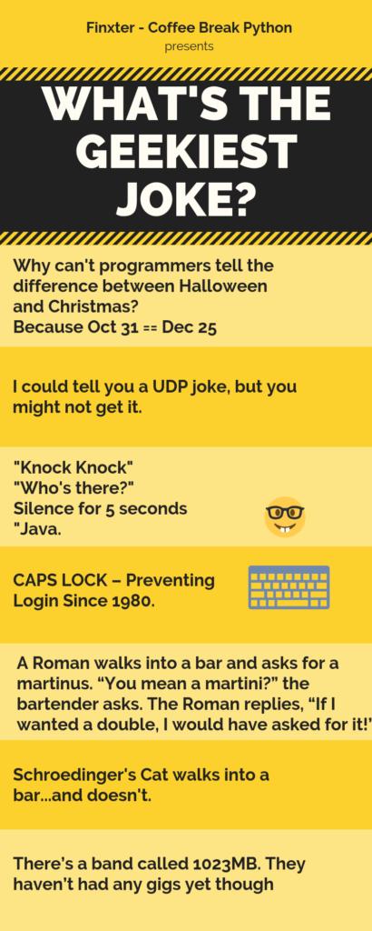 10 geekiest jokes infographic