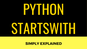 Python Startswith