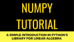 Numpy Tutorial