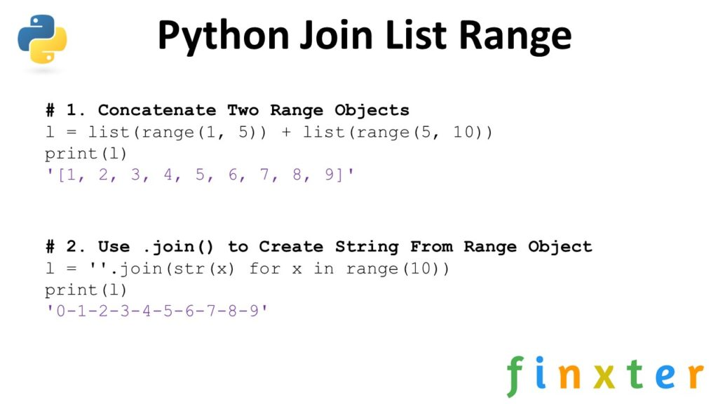 Python Join List Range