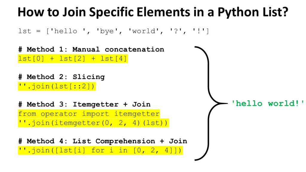 How to Join Specific List Elements in Python?