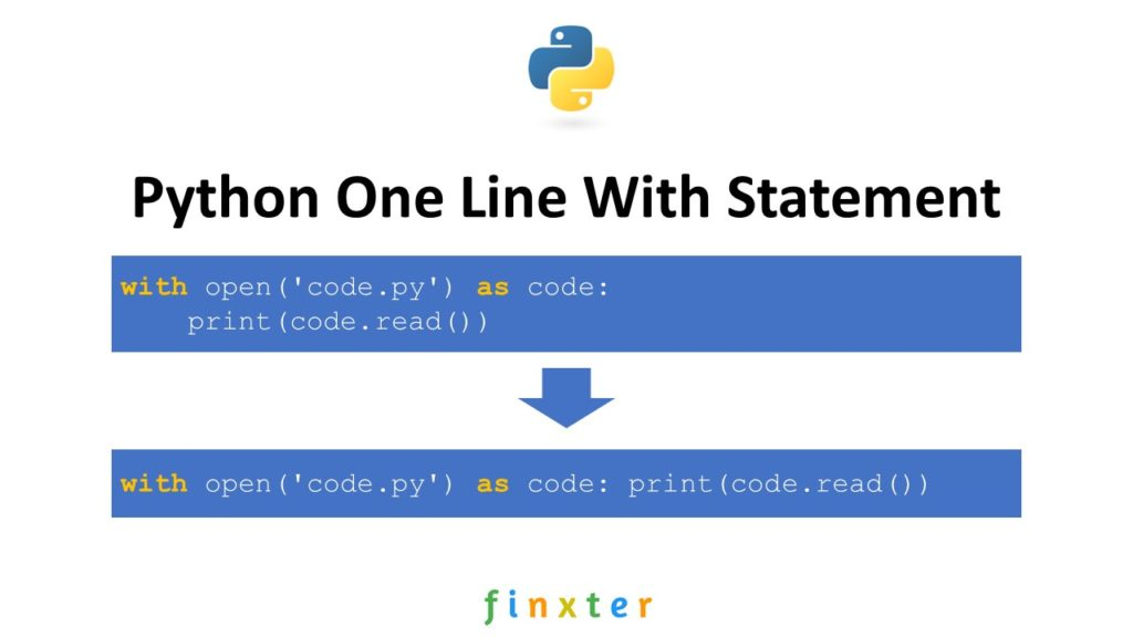 Python One Line With Statement