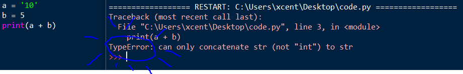 "TypeError: can only concatenate str (not ""int"") to str"