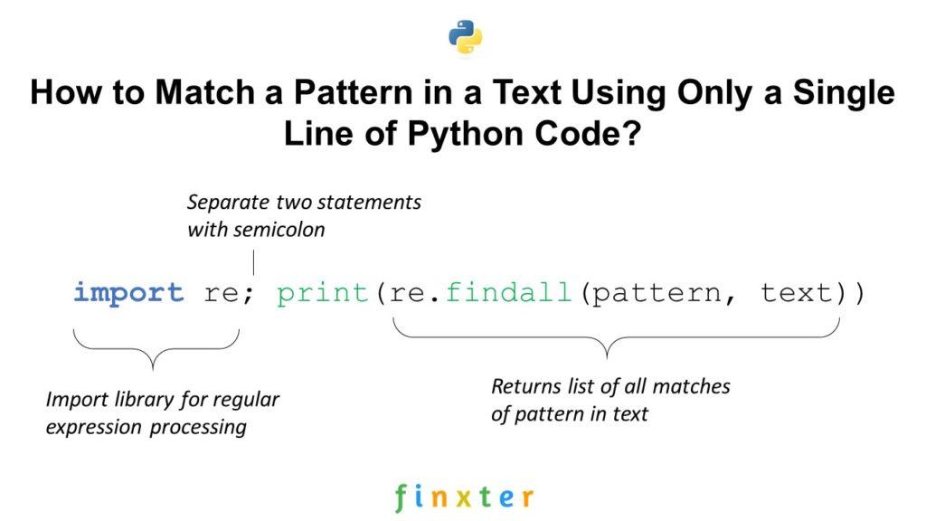 Python One Line Regex Match