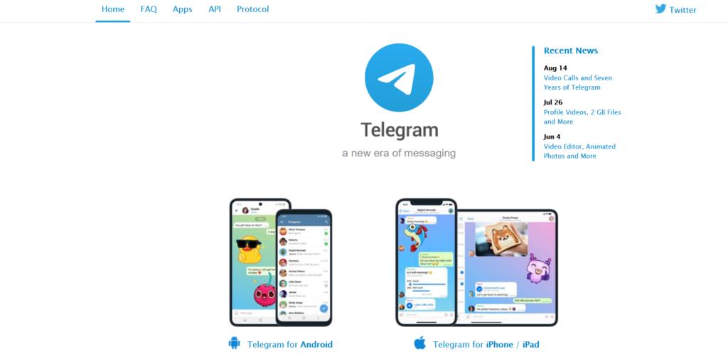 Python Telegram Website