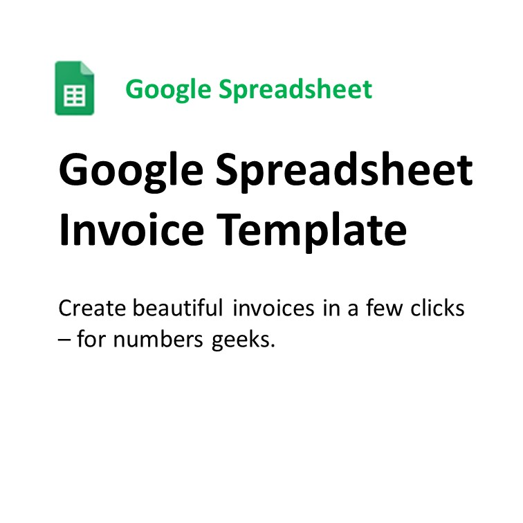 Google Spreadsheet Invoice Template