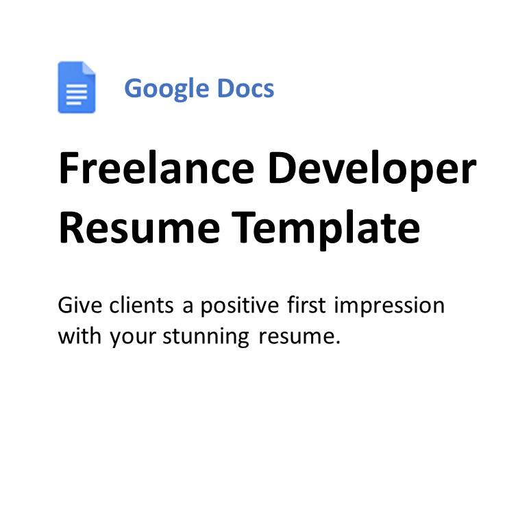 Google Docs Resume Freelancer