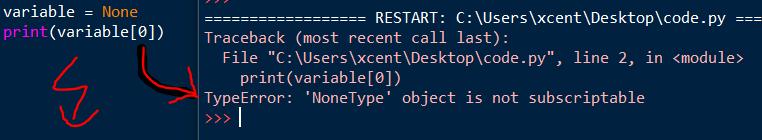 TypeError: 'NoneType' object is not subscriptable
