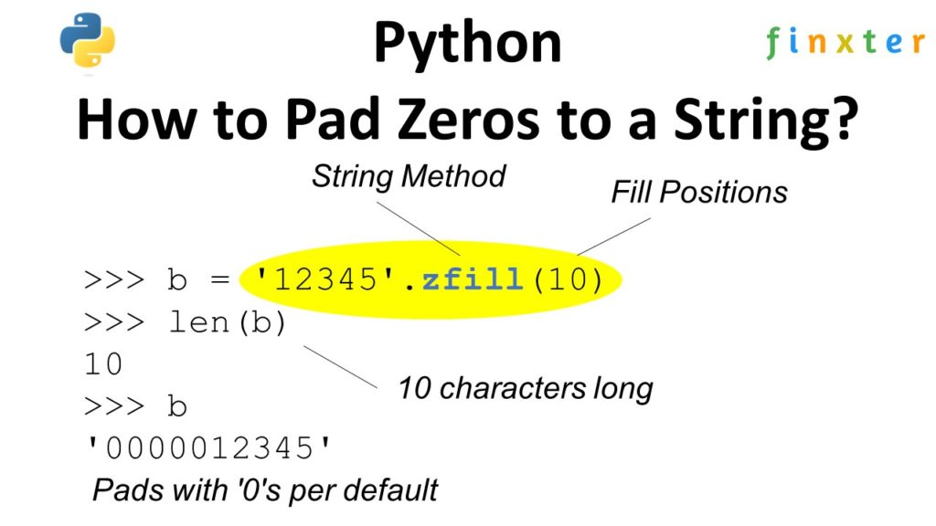 Python How to Pad Zeros to a String?