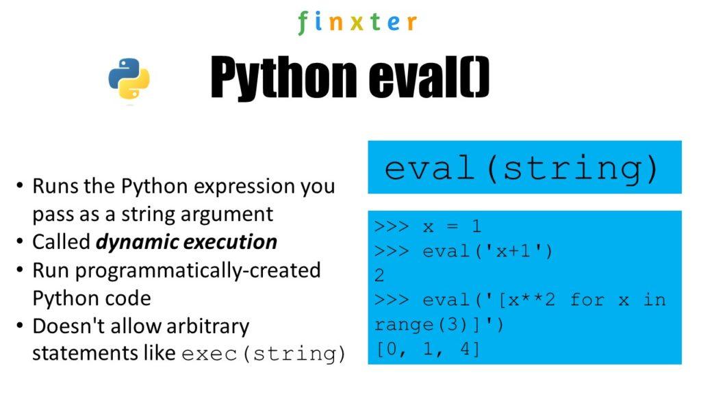 Python eval() - Visual Explanation