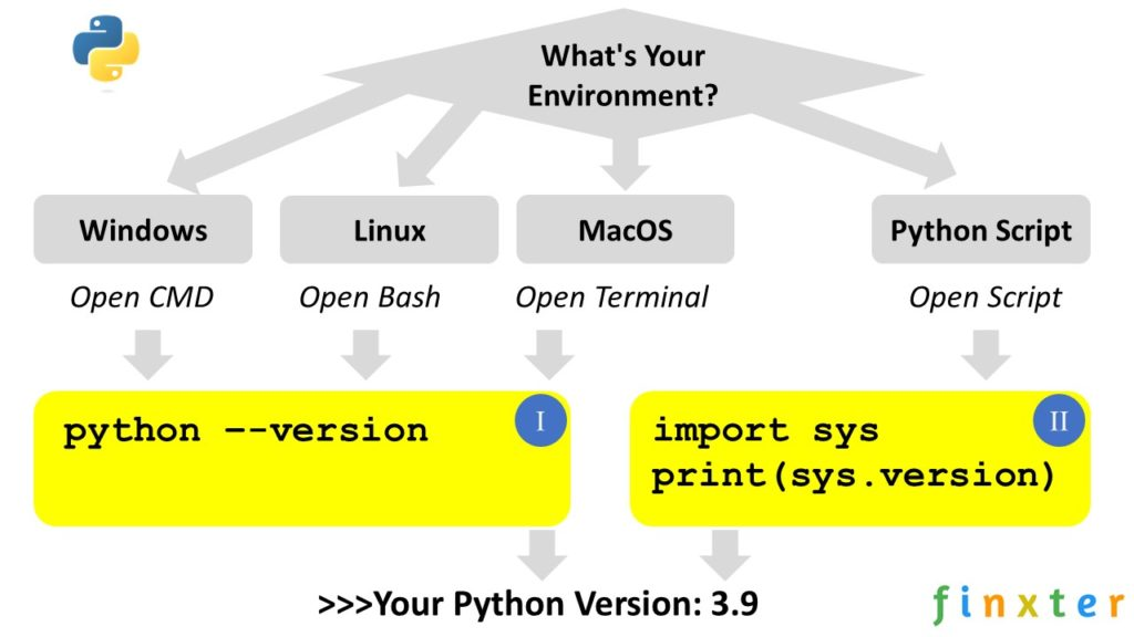Check Python Version [Win/Linux/MacOS] Infographic
