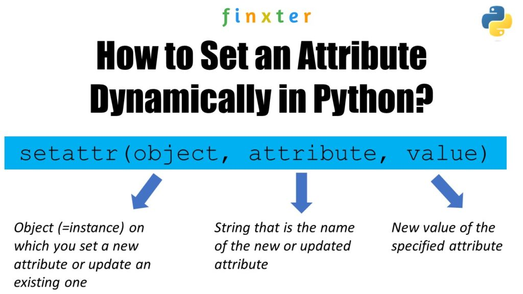 How to Set an Attribute Dynamically in Python? A visual guide to setattr()