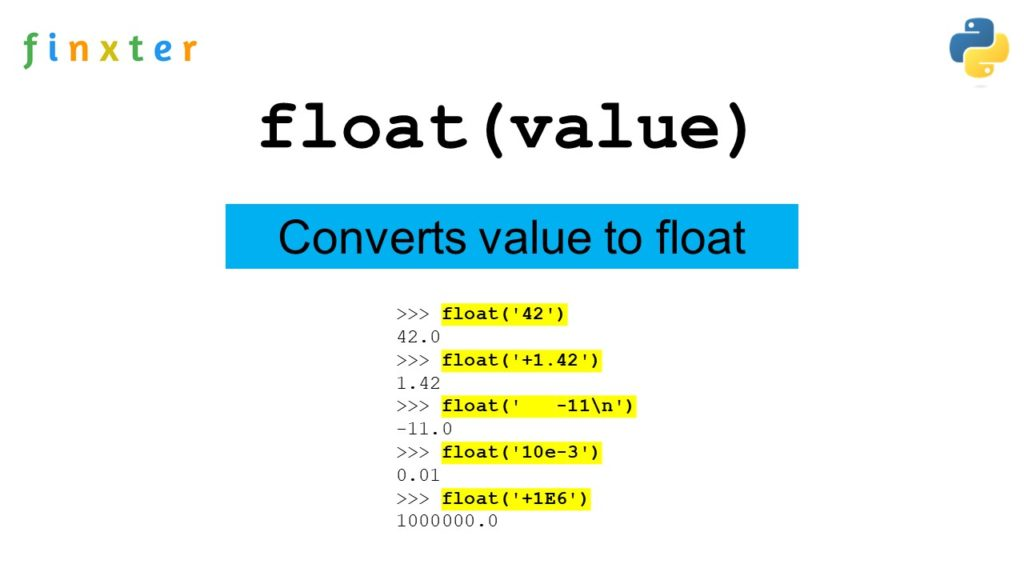 Python float()
