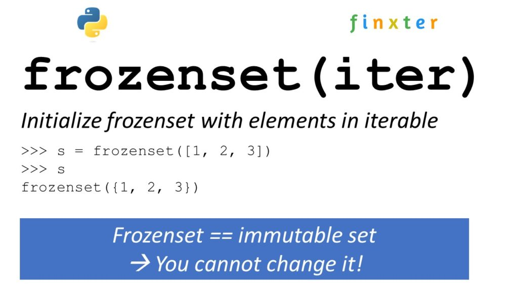 frozenset() function Python