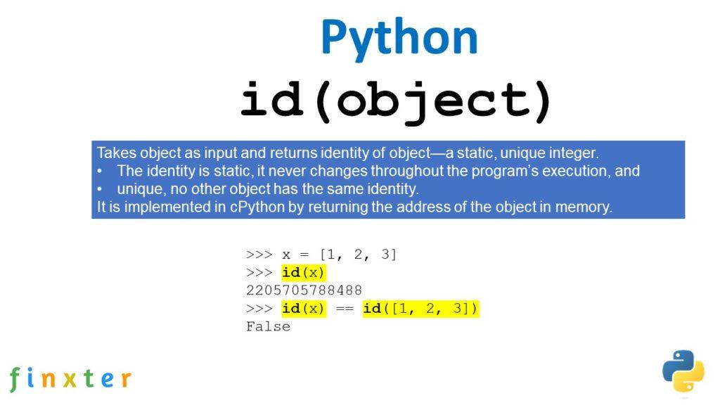 Python id() Function - Explanation