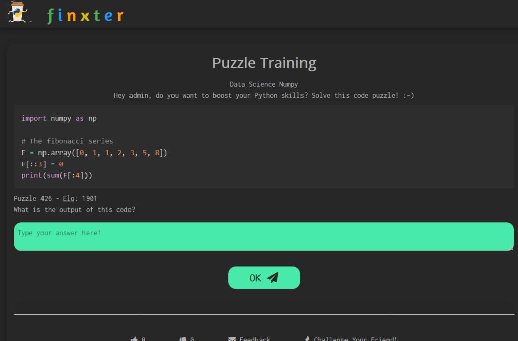 Python Puzzle 1D Slicing