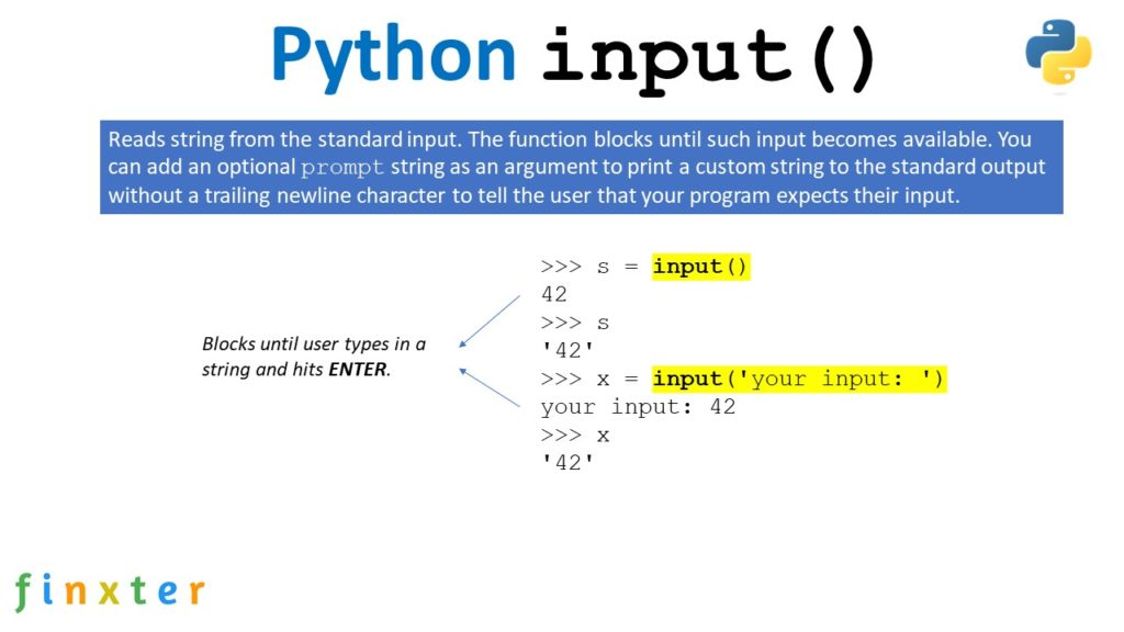Python input() Function - Visual Explanation