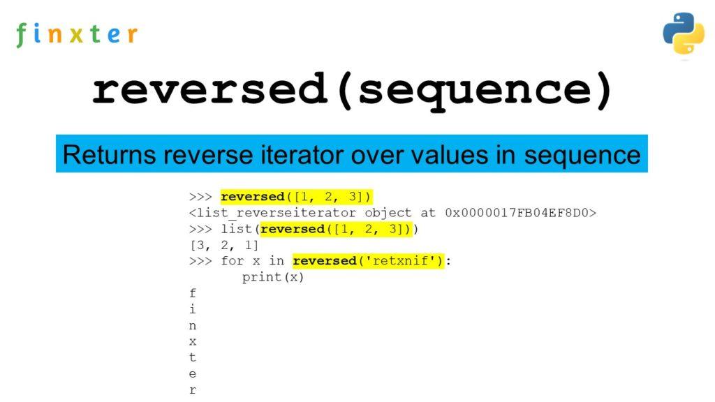 Python reversed()