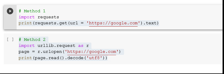 How to Get an HTML Page from a URL in Python?<br /> Interactive Shell