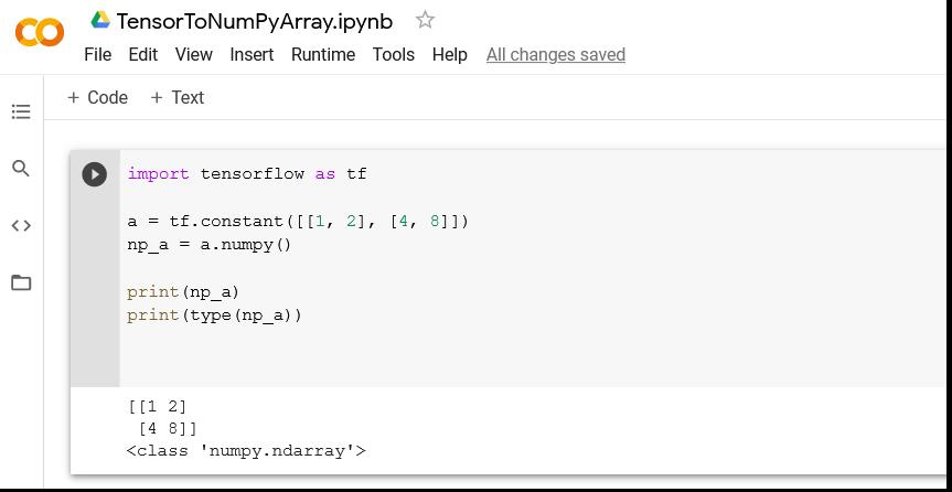 Tensor to NumPy Array